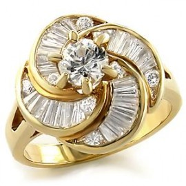 14K GOLD EP 5.9CT DIAMOND SIMULATED ENGAGEMENT RING