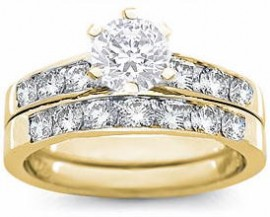 18K GOLD EP 2.0CT DIAMOND SIMULATED ENGAGEMENT RING
